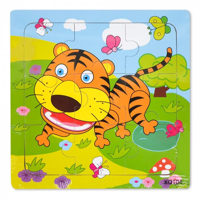 Puzzle din lemn tigrisor 0