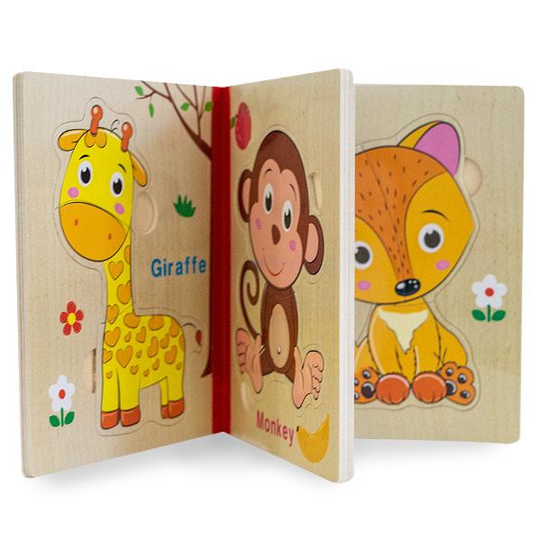 Puzzle din lemn tip carte [1]