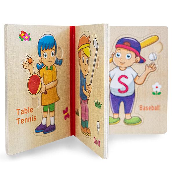 Puzzle din lemn tip carte 1