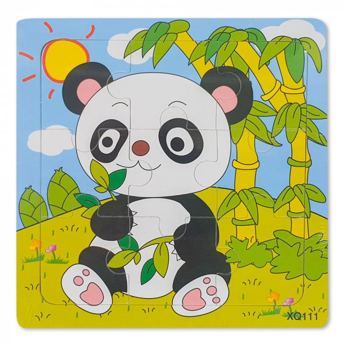 Puzzle din lemn ursulet panda 0