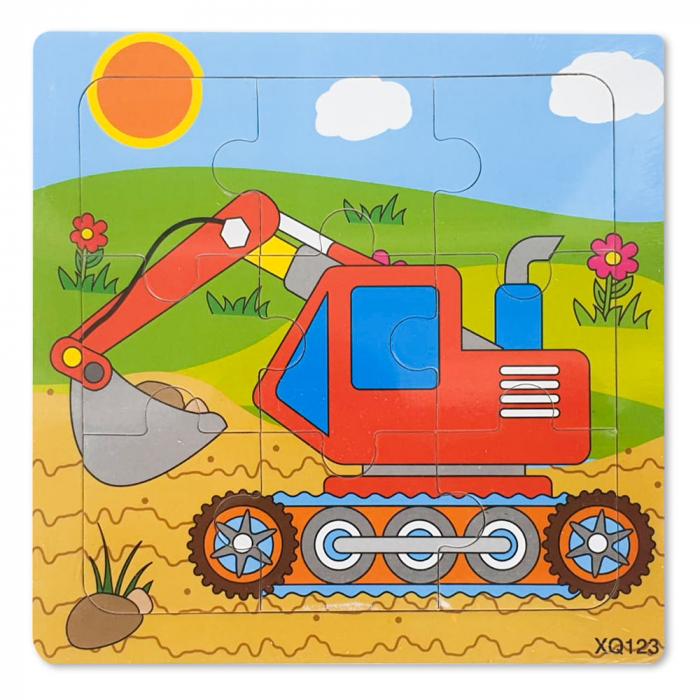 Puzzle din lemn excavator [0]
