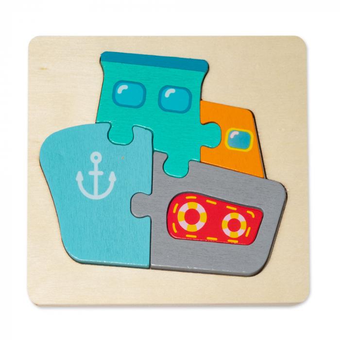 Puzzle mic 3D din lemn - vapor 0
