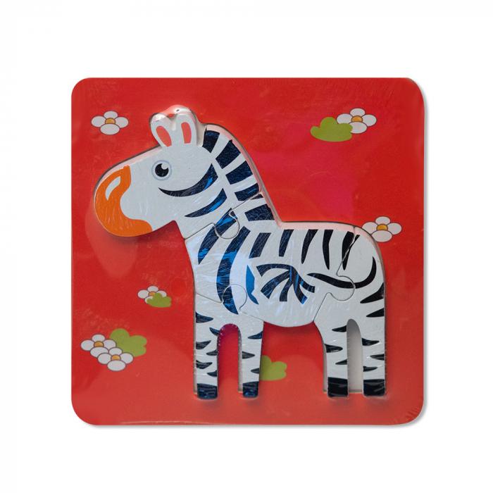 Puzzle mic 3D din lemn - zebra 0