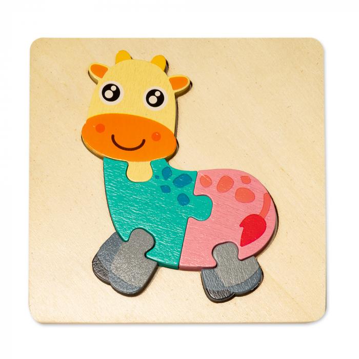 Puzzle mic 3D din lemn - girafa [0]