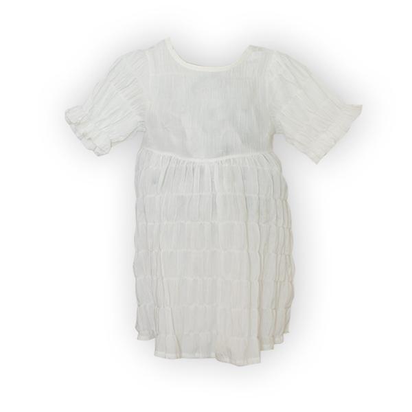 Rochie alba cu elastice [3]