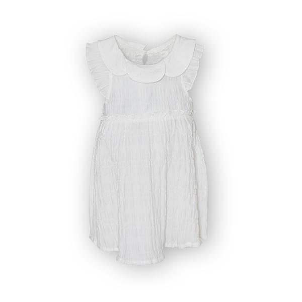 Rochie alba cu elastice 0