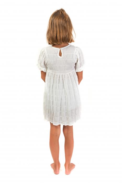 Rochie alba cu elastice [2]