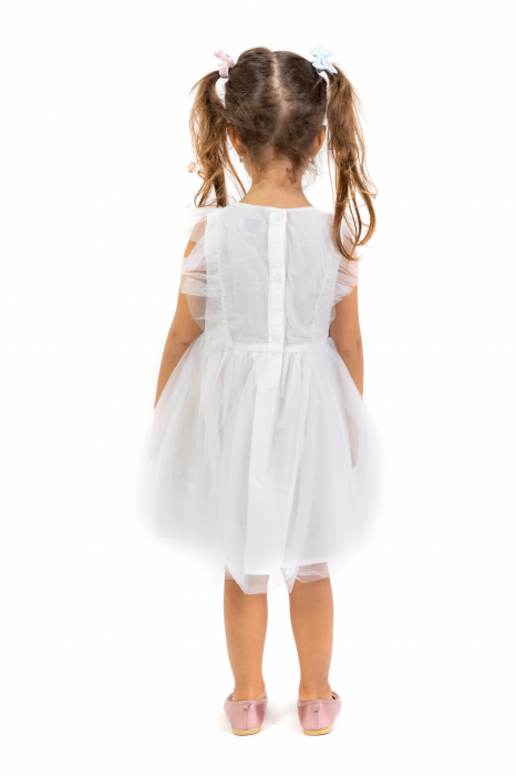 Rochie Cu Broderie Si Tulle [2]