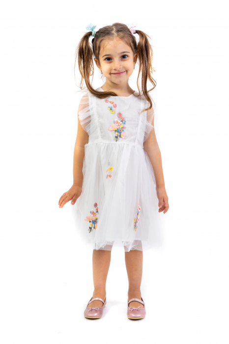 Rochie Cu Broderie Si Tulle [0]