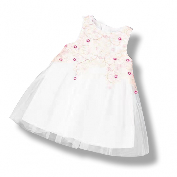 Rochie Cu Broderie Si Tulle 3