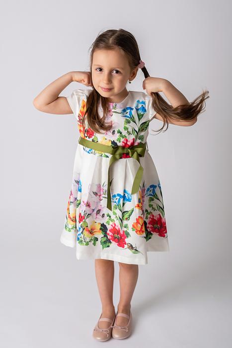 Rochie cu flori si cordon [2]