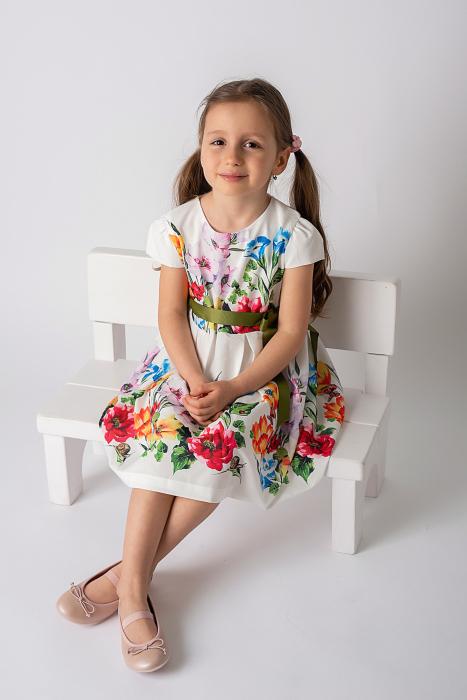Rochie cu flori si cordon [1]