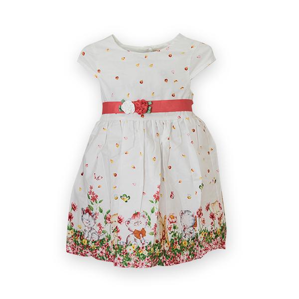 Rochie cu imprimeu floral si pisici [3]