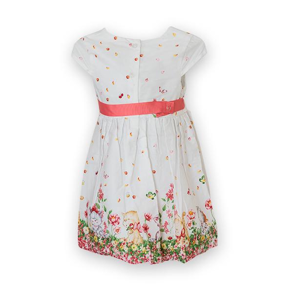 Rochie cu imprimeu floral si pisici [4]