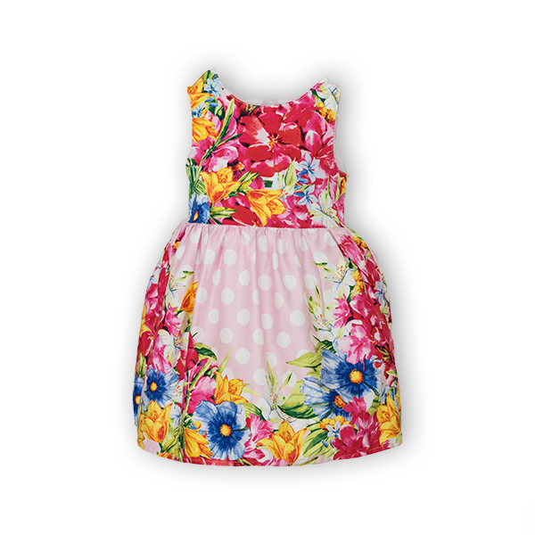 Rochie cu imprimeu floral si buline 4