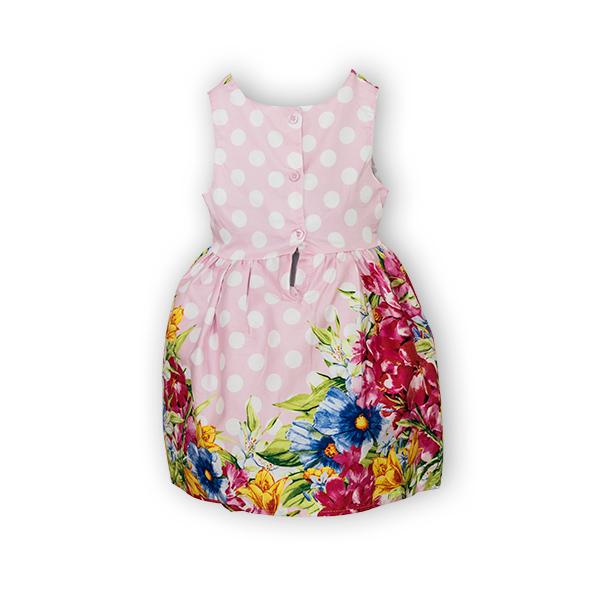 Rochie cu imprimeu floral si buline 5