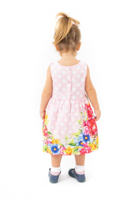 Rochie cu imprimeu floral si buline 2
