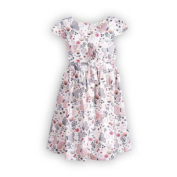 Rochie cu imprimeu flori si fluturi 1