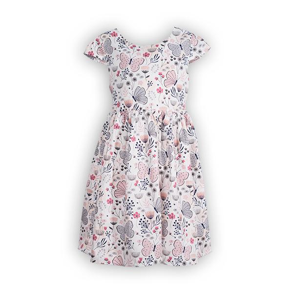 Rochie cu imprimeu flori si fluturi 0