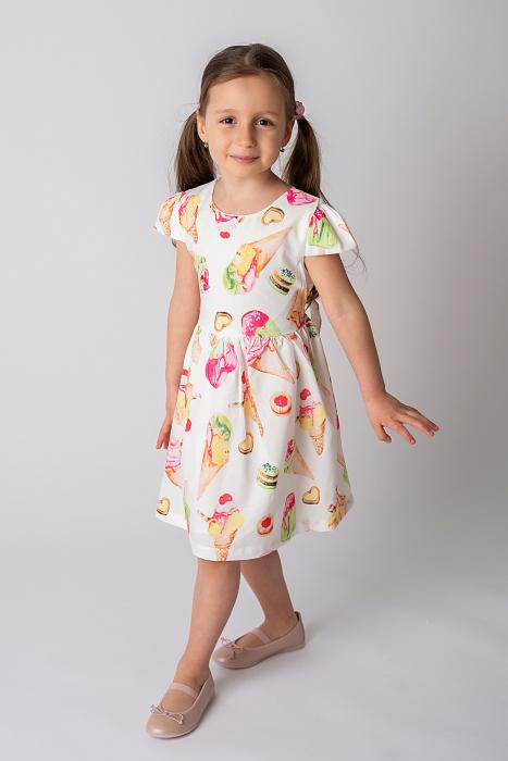 Rochie cu imprimeu inghetata colorata 1