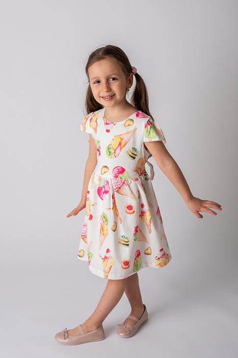 Rochie cu imprimeu inghetata colorata 4