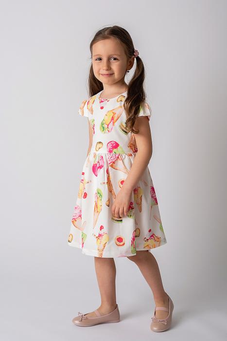 Rochie cu imprimeu inghetata colorata 5