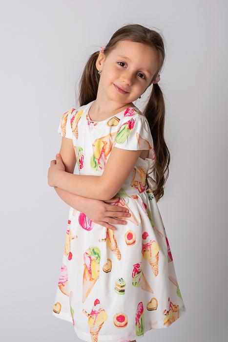 Rochie cu imprimeu inghetata colorata 2