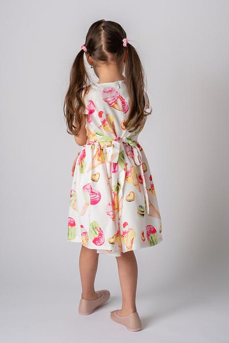 Rochie cu imprimeu inghetata colorata 7