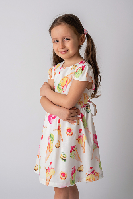 Rochie cu imprimeu inghetata colorata 0