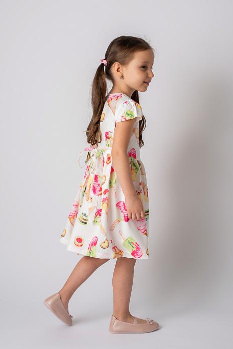 Rochie cu imprimeu inghetata colorata 6