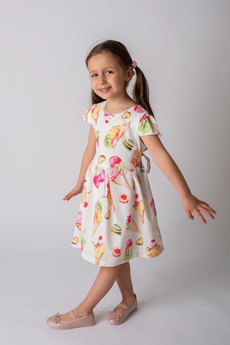 Rochie cu imprimeu inghetata colorata 3