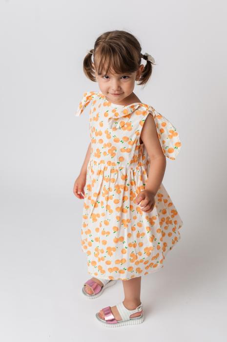 Rochie cu imprimeu portocale [0]