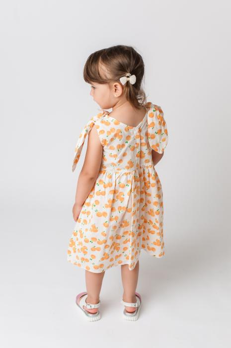 Rochie cu imprimeu portocale [5]