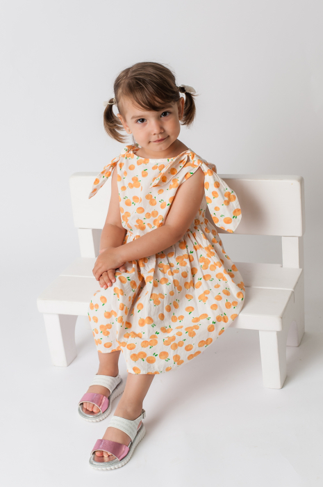 Rochie cu imprimeu portocale [2]