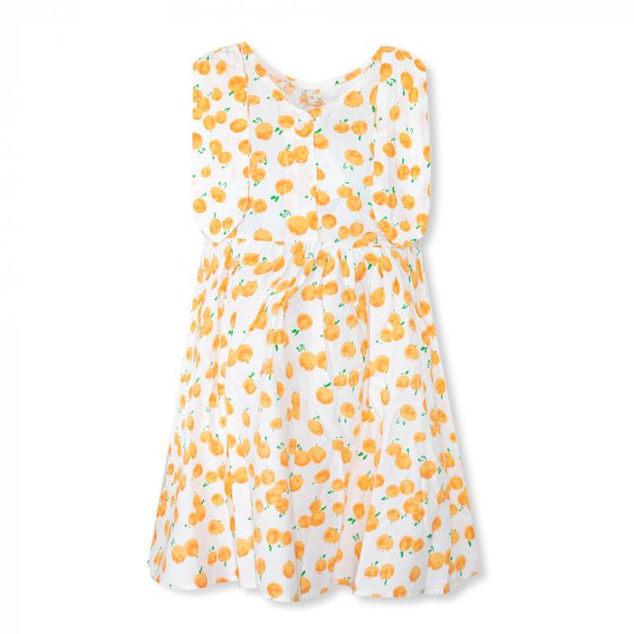 Rochie cu imprimeu portocale [7]