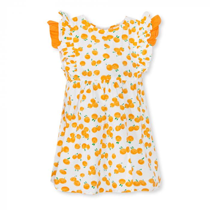 Rochie cu imprimeu portocale 0