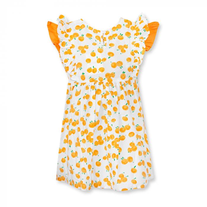 Rochie cu imprimeu portocale 1
