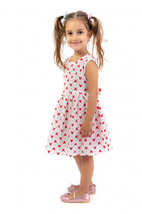 Rochie cu imprimeu rosu 2