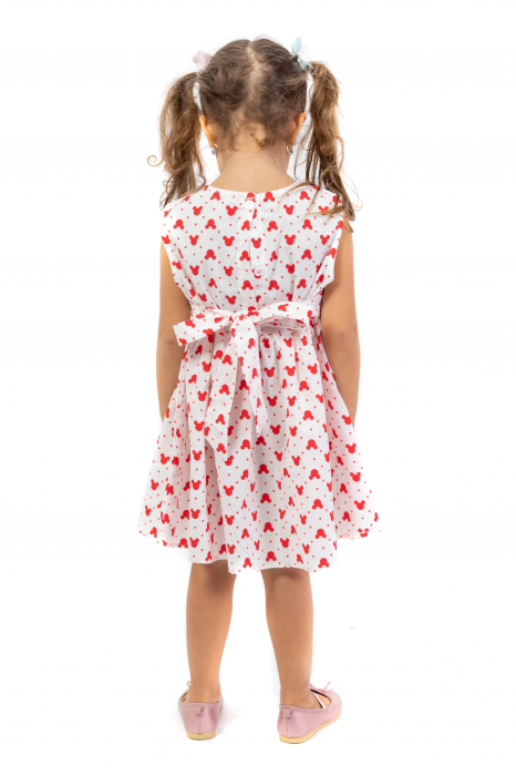 Rochie cu imprimeu rosu 3