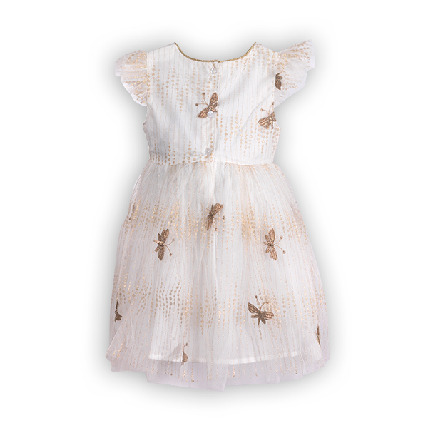 Rochie cu tulle si broderie 1