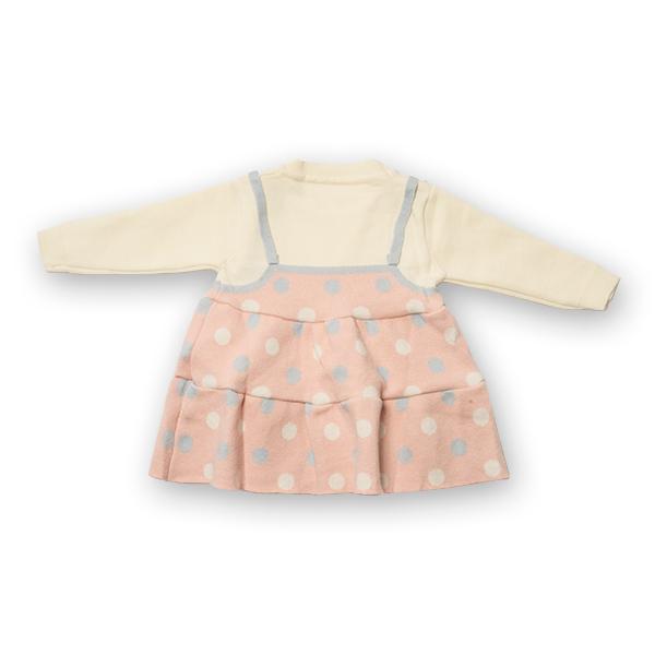Pulover tip rochita din tricot cu buline 7