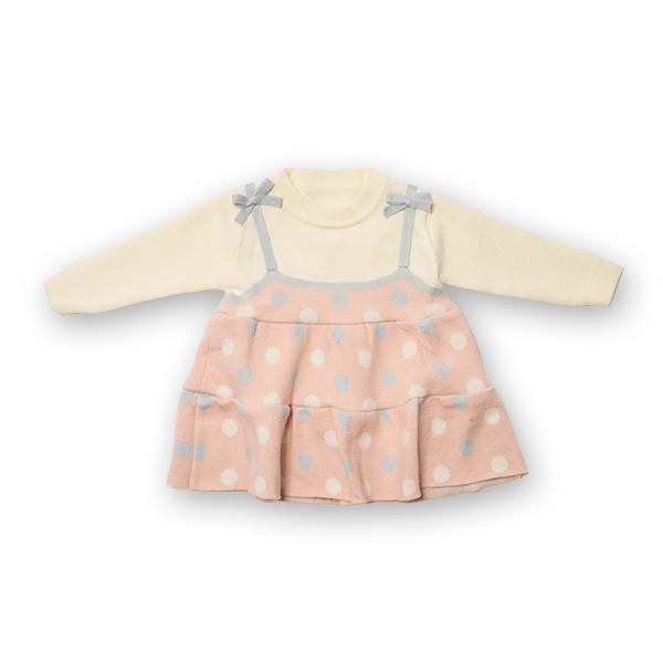 Pulover tip rochita din tricot cu buline 6