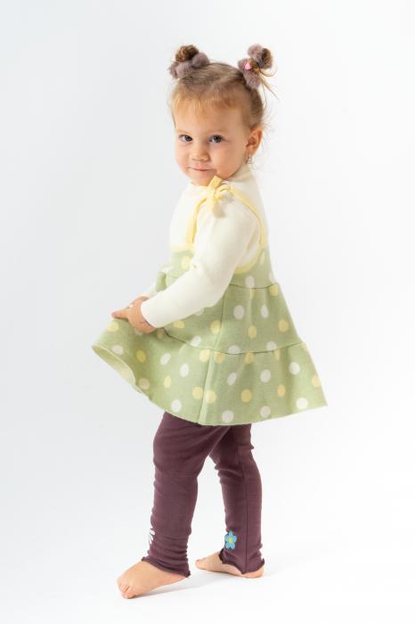 Pulover tip rochita din tricot cu buline [3]