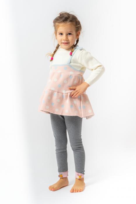 Pulover tip rochita din tricot cu buline 0