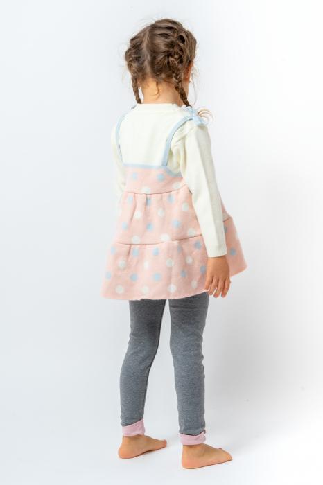 Pulover tip rochita din tricot cu buline 3