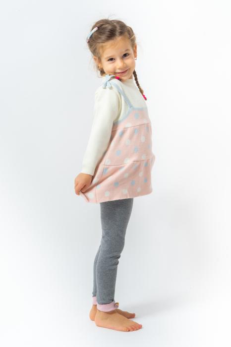 Pulover tip rochita din tricot cu buline 2