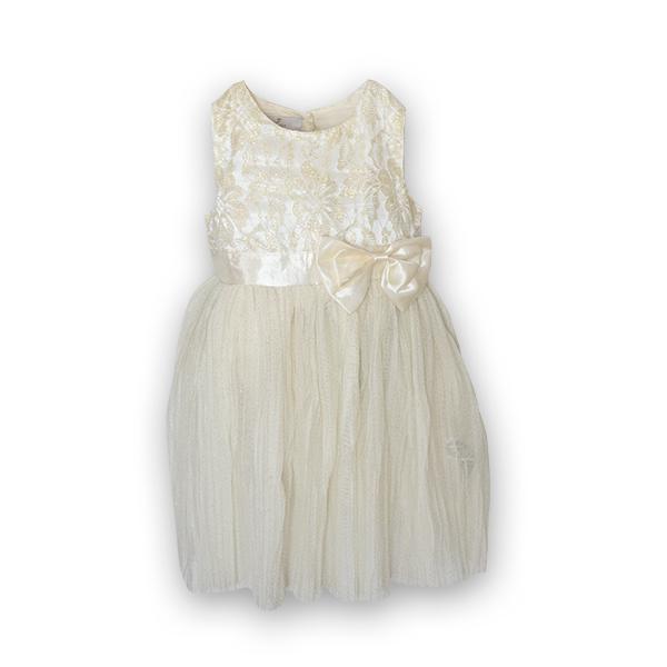 Rochie eleganta plisata cu dantela si tulle 3