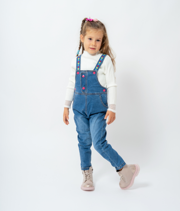 Salopeta denim lunga 0