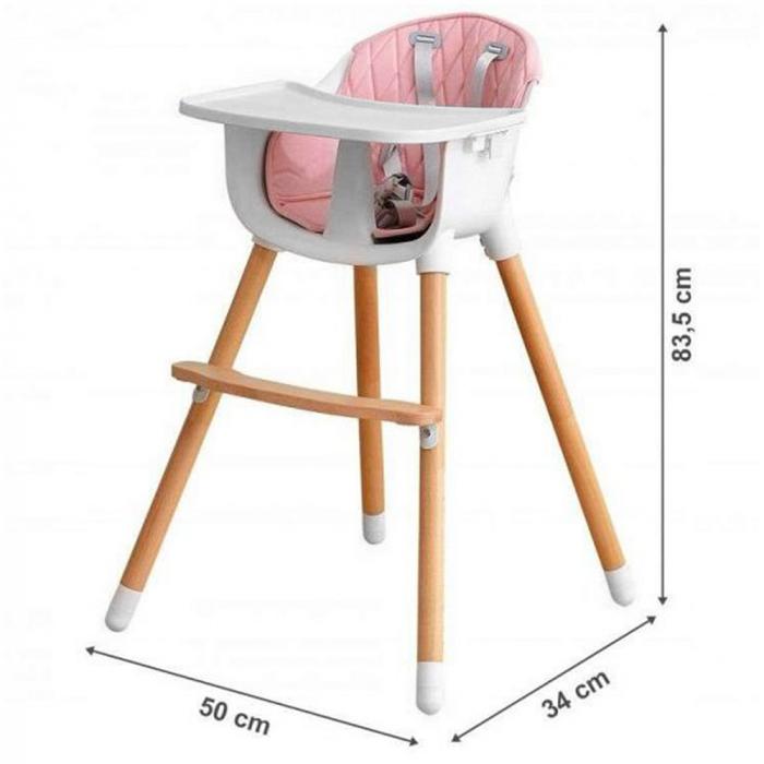 Scaun de masa  2 in 1 din lemn 2