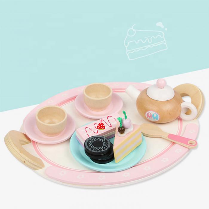 Set de dulciuri și ceai din lemn -12 piese 3